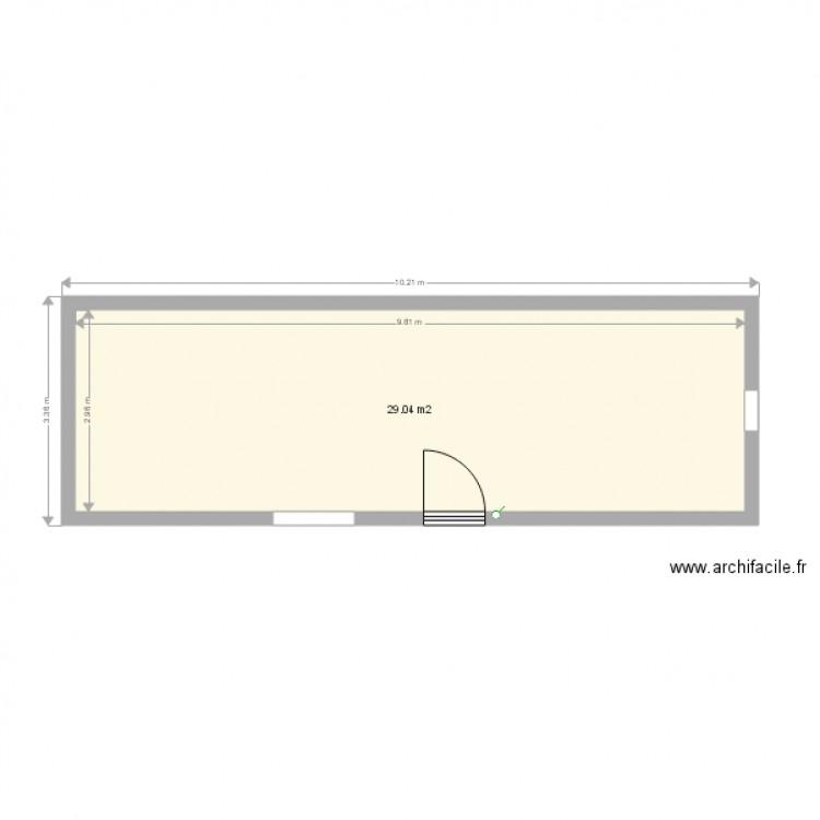 Abri jardin plan 1 pi ce 29 m2 dessin par cowcow81 - Abri jardin grande taille ...