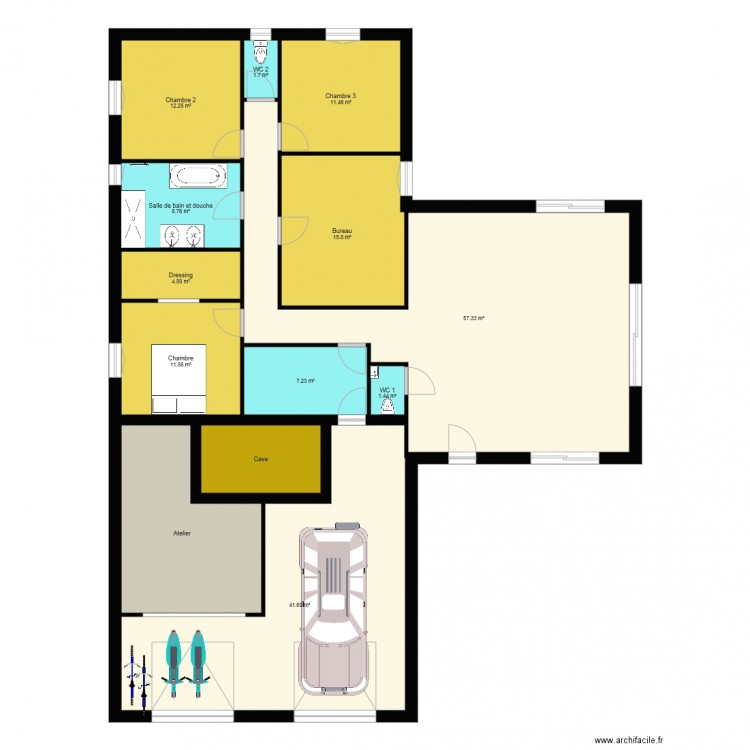 maison en t sglb plan 13 pi ces 199 m2 dessin par pigrider. Black Bedroom Furniture Sets. Home Design Ideas