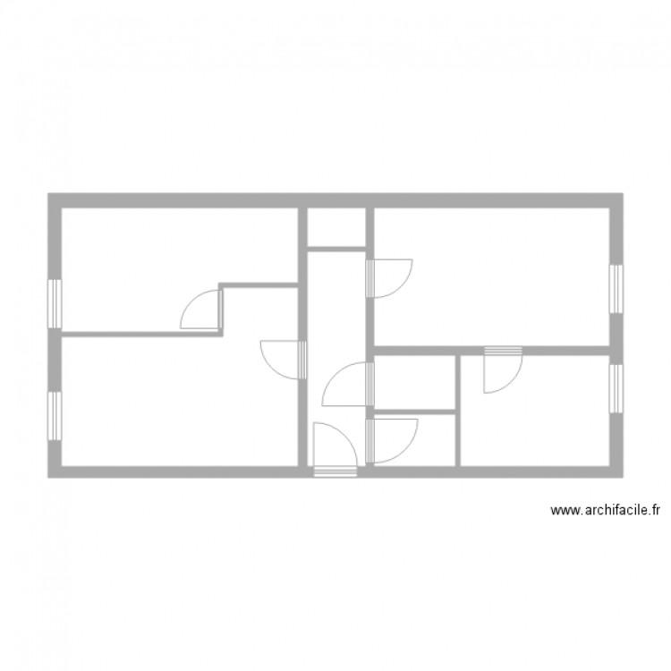 kieffer strasbourg plan 8 pi ces 45 m2 dessin par lcd 67. Black Bedroom Furniture Sets. Home Design Ideas
