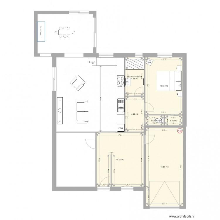 maison loubere origine3 plan 7 pi ces 60 m2 dessin par manu73230. Black Bedroom Furniture Sets. Home Design Ideas