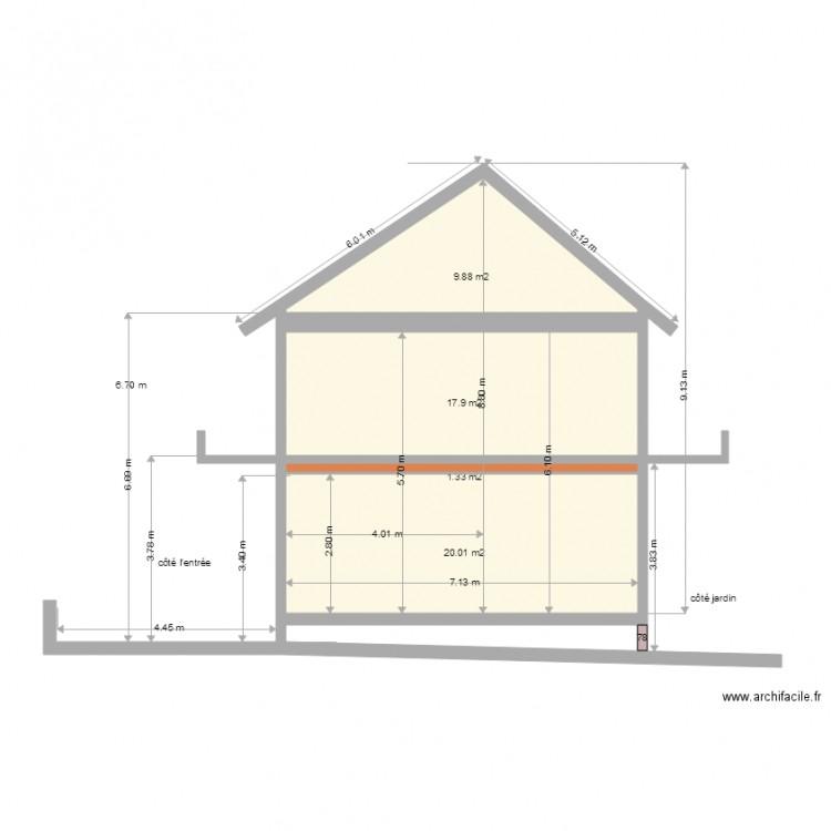 fa ade vu c t l est avec des balcons une seul toiture plan 5 pi ces 114 m2 dessin par joseph1982. Black Bedroom Furniture Sets. Home Design Ideas