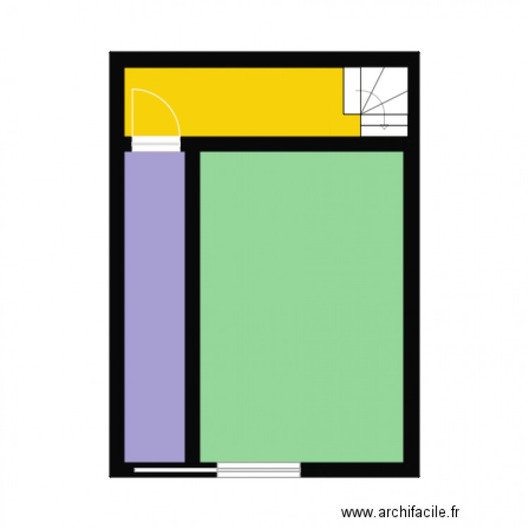 plan tabac plan 3 pi ces 29 m2 dessin par julio69100. Black Bedroom Furniture Sets. Home Design Ideas