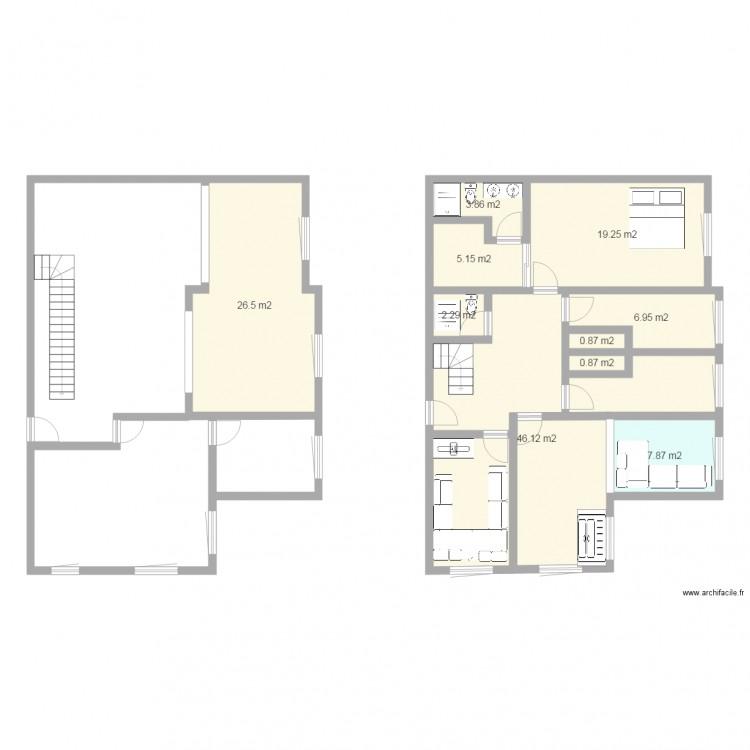 1er etage plan 10 pi ces 120 m2 dessin par sermati09 - Plan appartement 120 m2 ...