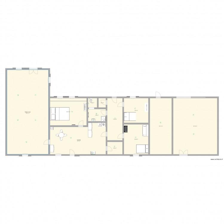 Campagne plan 12 pi ces 334 m2 dessin par jccmoi for Garage plan de campagne