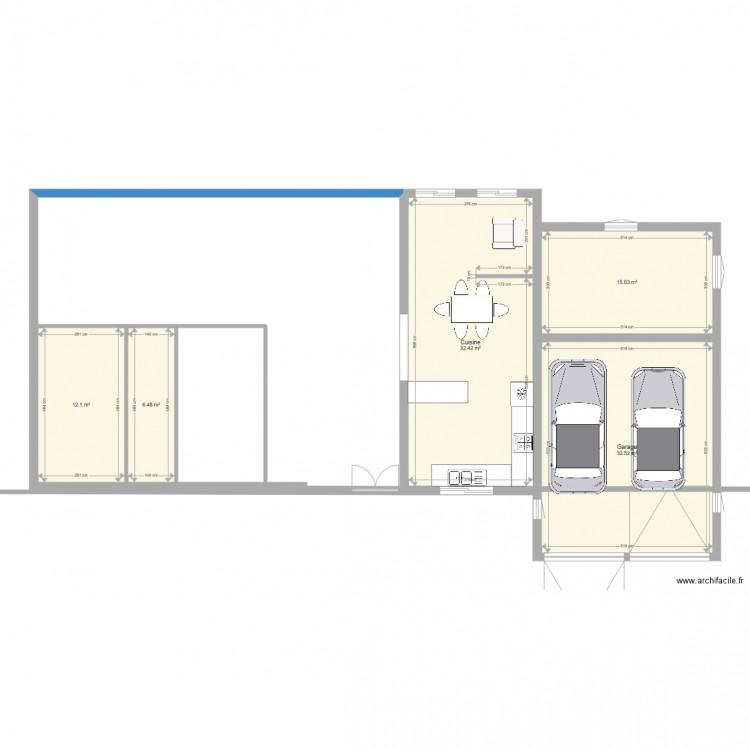Maison de campagne plan 5 pi ces 99 m2 dessin par allzen for Maison plan de campagne