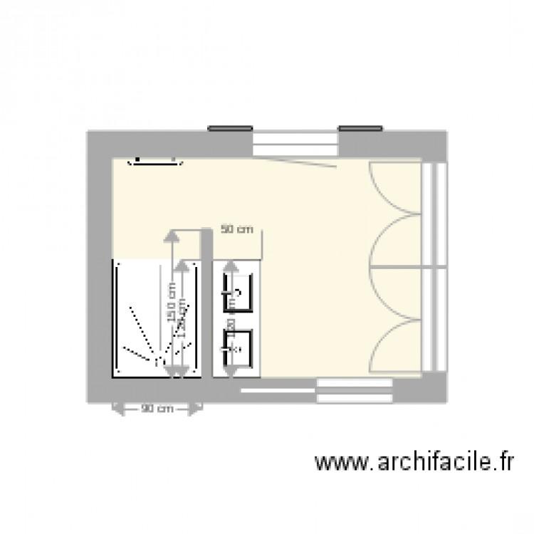 salle de bain 1 1 plan 1 pi ce 7 m2 dessin par jblandin. Black Bedroom Furniture Sets. Home Design Ideas