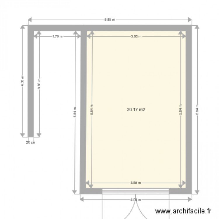 mon garage et abri remorque plan 1 pi ce 20 m2 dessin par cafn. Black Bedroom Furniture Sets. Home Design Ideas