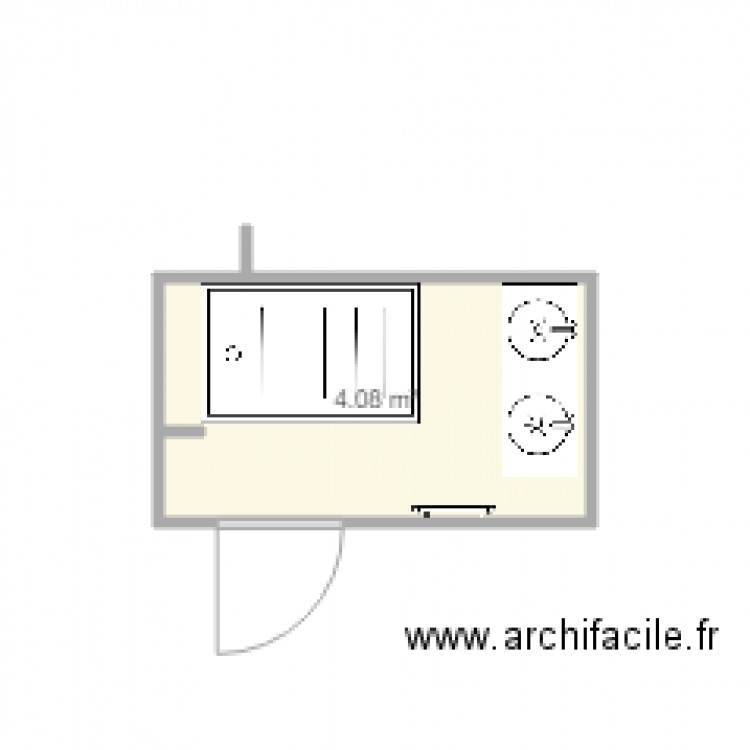 salle de bain 2 plan 1 pi ce 4 m2 dessin par ephisio. Black Bedroom Furniture Sets. Home Design Ideas