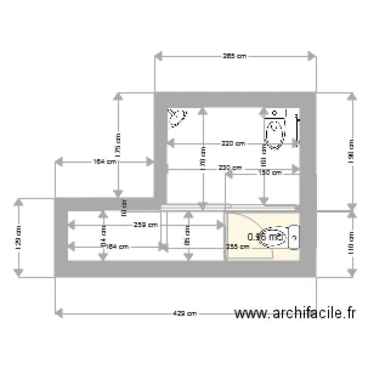 toilette peruys projets plan 1 pi ce 1 m2 dessin par manosque04. Black Bedroom Furniture Sets. Home Design Ideas
