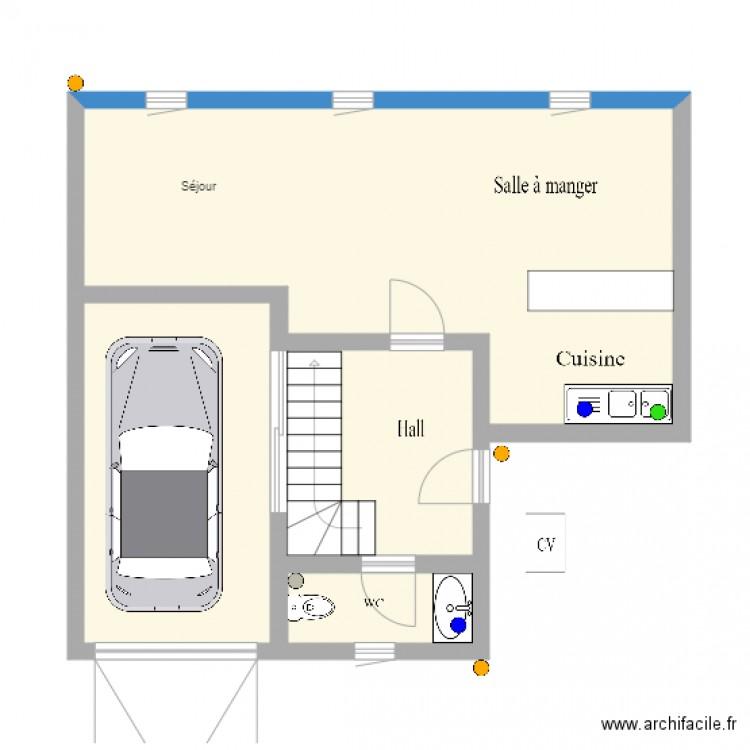 Maison rdcx plan 4 pi ces 56 m2 dessin par admirsimnica for Dessine mes plans de maison