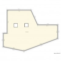 plan toiture velux plan 1 pi ce 142 m2 dessin par kadot. Black Bedroom Furniture Sets. Home Design Ideas