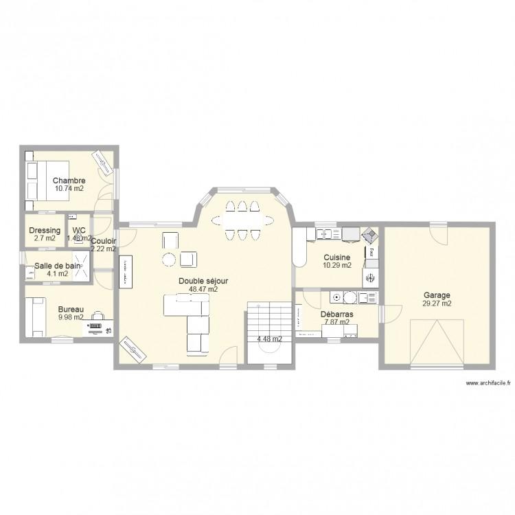 maison avec bow window v4 plan 11 pi ces 132 m2 dessin par clocloc. Black Bedroom Furniture Sets. Home Design Ideas