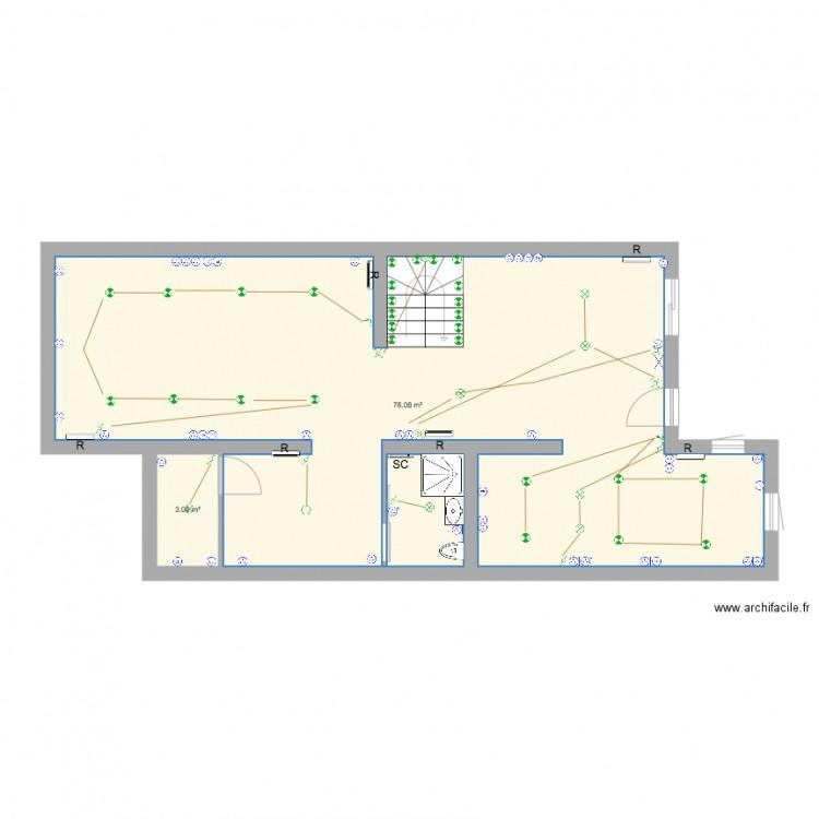 Plan chauffage athis 2ieme plan 7 pi ces 176 m2 dessin for Chauffage watt par m2