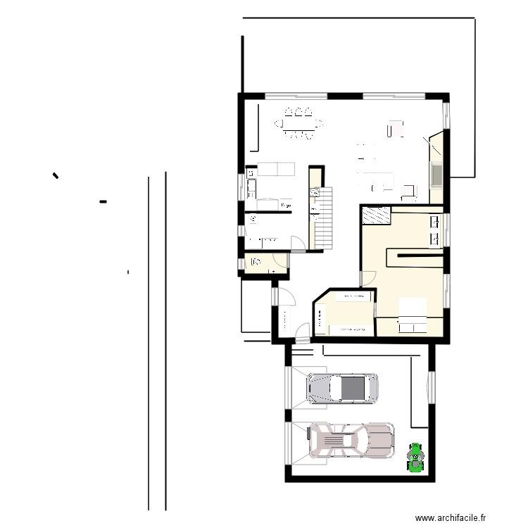 Projet meubl 5 plan 12 pi ces 121 m2 dessin par famillemur for Construire meuble