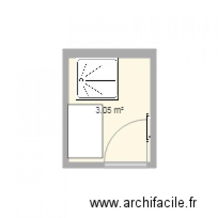 Salle de bains plan 1 pi ce 3 m2 dessin par helene1010 - Construire un plan de travail ...