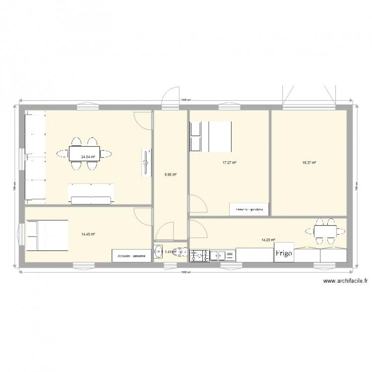 Ma maison plan 7 pi ces 97 m2 dessin par tonmoustiko for Dessine ma maison gratuitement