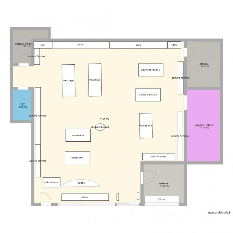 nocib plan 6 pi ces 226 m2 dessin par r. Black Bedroom Furniture Sets. Home Design Ideas