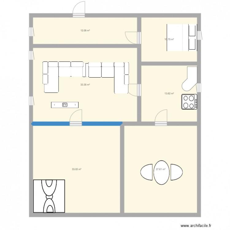 Aparte de mes r ve plan 6 pi ces 130 m2 dessin par tomer09 for Dessine mes plans de maison