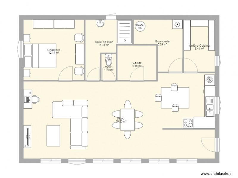 Plan Maison 80m2 Bioclimatique Plan 7 Pieces 86 M2 Dessine Par Edouardo74