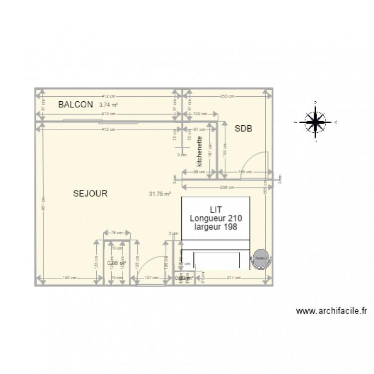 Foyer Et Plan Focal : Logement foyer actuel plan pièces m dessiné par