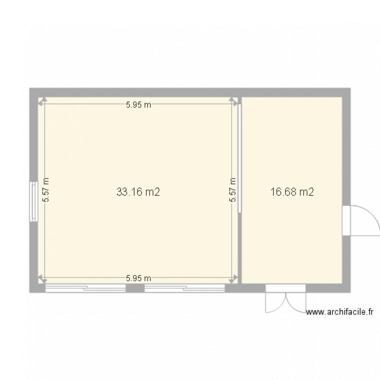 garage 3 voitures et atelier testsnk plan 2 pi ces 50 m2 dessin par snakarn. Black Bedroom Furniture Sets. Home Design Ideas