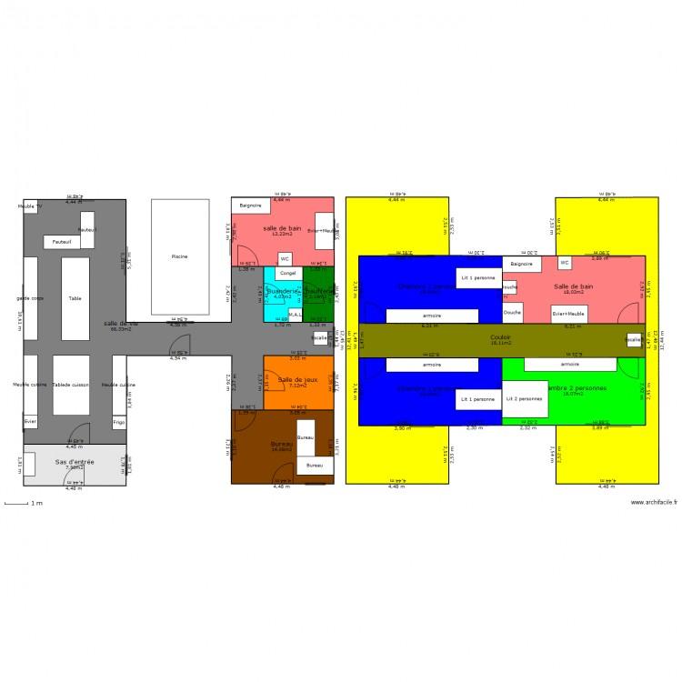 Maison container 2 plan 14 pi ces 259 m2 dessin par dethierjonathan - Forum maison container ...