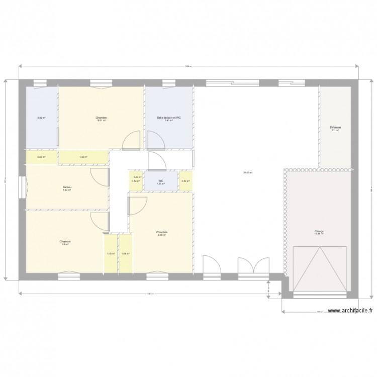 Autre essai plan 17 pi ces 120 m2 dessin par sianah - Plan appartement 120 m2 ...