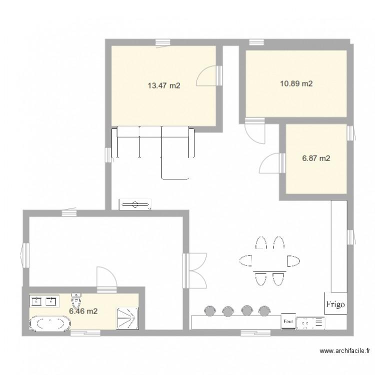 Maison anglais plan 4 pi ces 38 m2 dessin par patate27 for Maison de reve plan