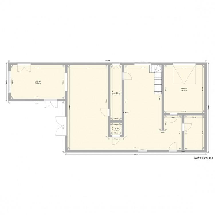 Maison hockai plan 5 pi ces 143 m2 dessin par jf for Plan de maison 5 pieces