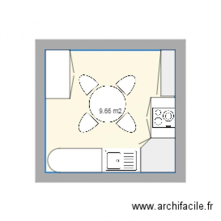 cuisine plan 1 pi ce 10 m2 dessin par maud63. Black Bedroom Furniture Sets. Home Design Ideas