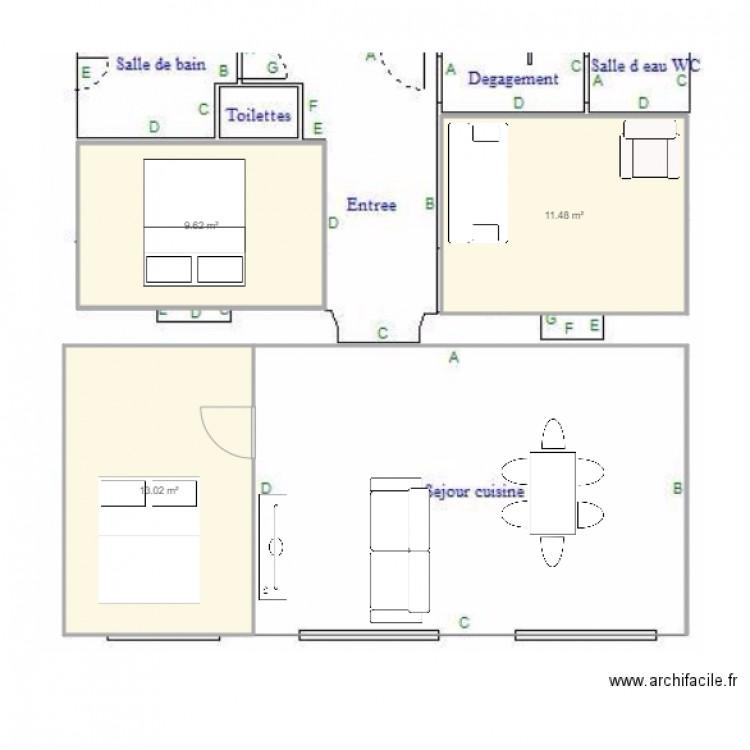 appart strasbourg plan 3 pi ces 34 m2 dessin par alf321. Black Bedroom Furniture Sets. Home Design Ideas