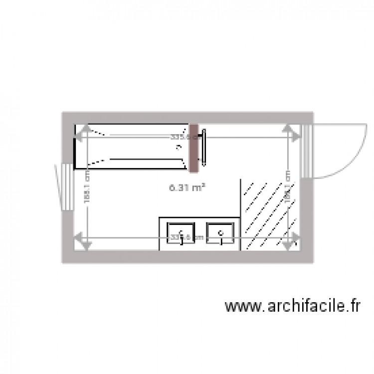 salle de bain plan 1 pi ce 6 m2 dessin par marie2127. Black Bedroom Furniture Sets. Home Design Ideas