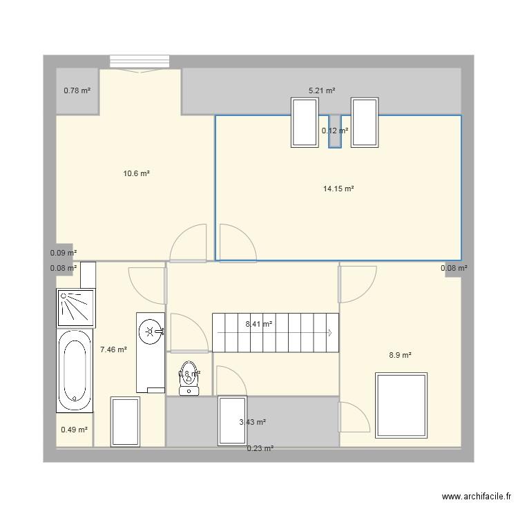 Simone2e plan 15 pi ces 61 m2 dessin par papychris72 for Taille fenetre html