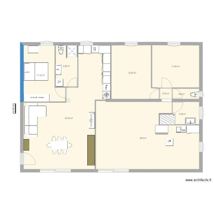 maison 125 m2 plan maison 1000 plan 9 pi ces 125 m2 dessin par gabriel13