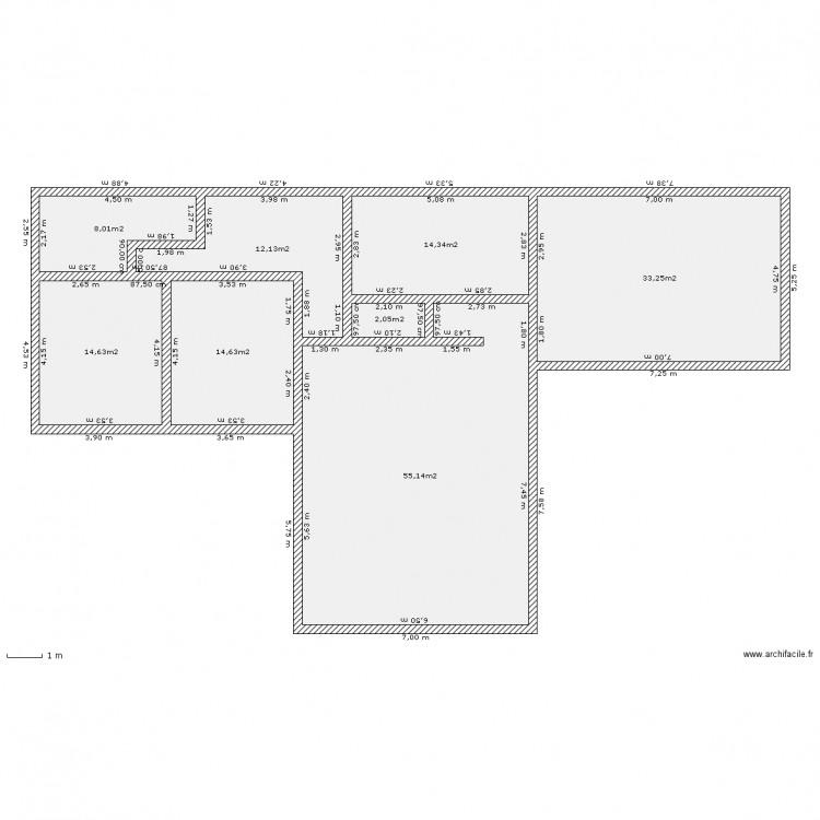 plan maison 7×7