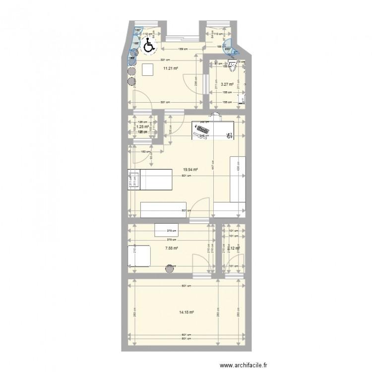 Cabinet infirmier 4 bis plan 7 pi ces 60 m2 dessin par lourosarah - Rachat cabinet infirmier ...