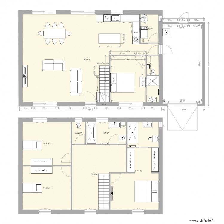 Plan maison inversee for Plan de maison zone llc