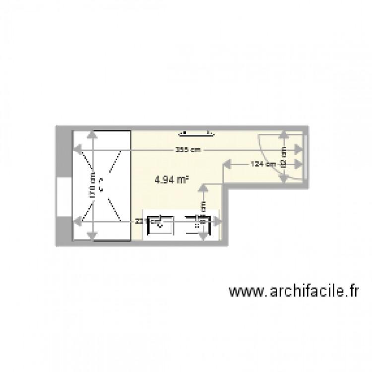 plan salle de bain plan 1 pi ce 5 m2 dessin par joe 451. Black Bedroom Furniture Sets. Home Design Ideas