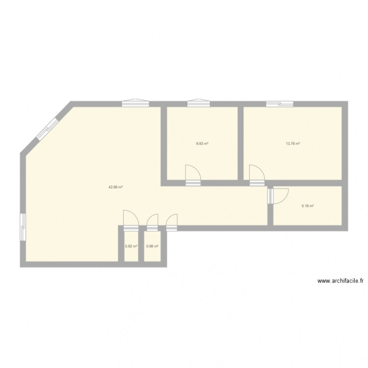 plan appart plan 6 pi ces 73 m2 dessin par marierima. Black Bedroom Furniture Sets. Home Design Ideas