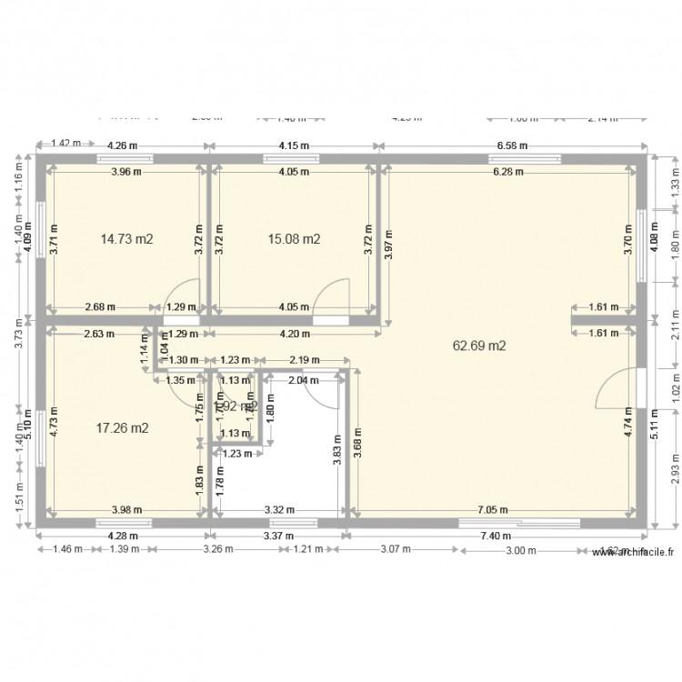 Plan maison plan 5 pi ces 112 m2 dessin par for Plan de maison 5 pieces