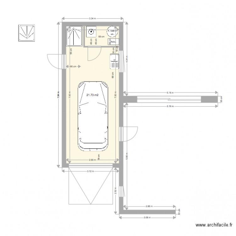 version du 25 aout 2016 garage v2 plan 1 pi ce 22 m2 dessin par rv061068. Black Bedroom Furniture Sets. Home Design Ideas