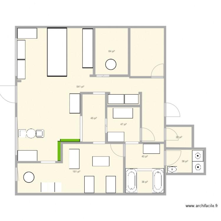 Amenagement magasin plan 9 pi ces 94 m2 dessin par princesse et charmant for Magasin amenagement jardin
