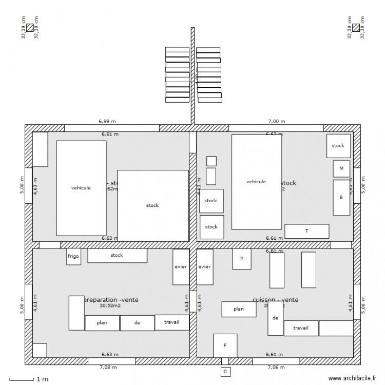 habitation atelier transformation rez de chauss e plan 4 pi ces 122 m2 dessin par lff29. Black Bedroom Furniture Sets. Home Design Ideas