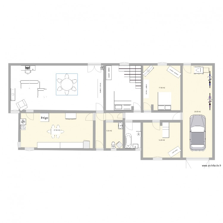 Ma maison enzo plan 5 pi ces 99 m2 dessin par enzo for Je dessine ma maison
