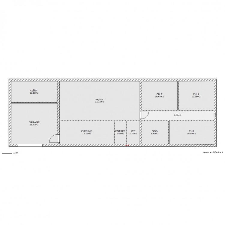 Plan De Maison Plain Pied M Standing  Plan De La Maison