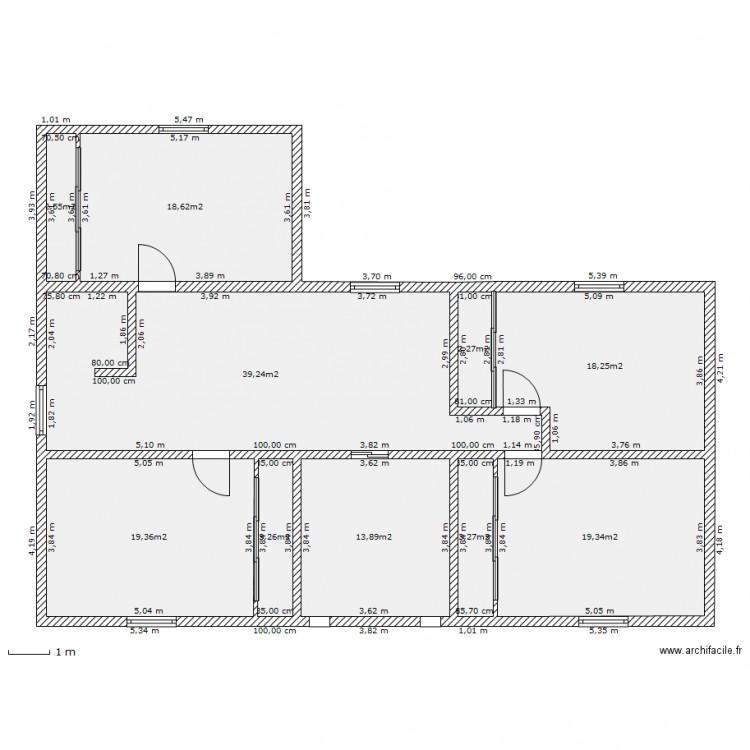 Ma maison tage plan 10 pi ces 140 m2 dessin par fr28 - Consommation electrique moyenne maison 140 m2 ...