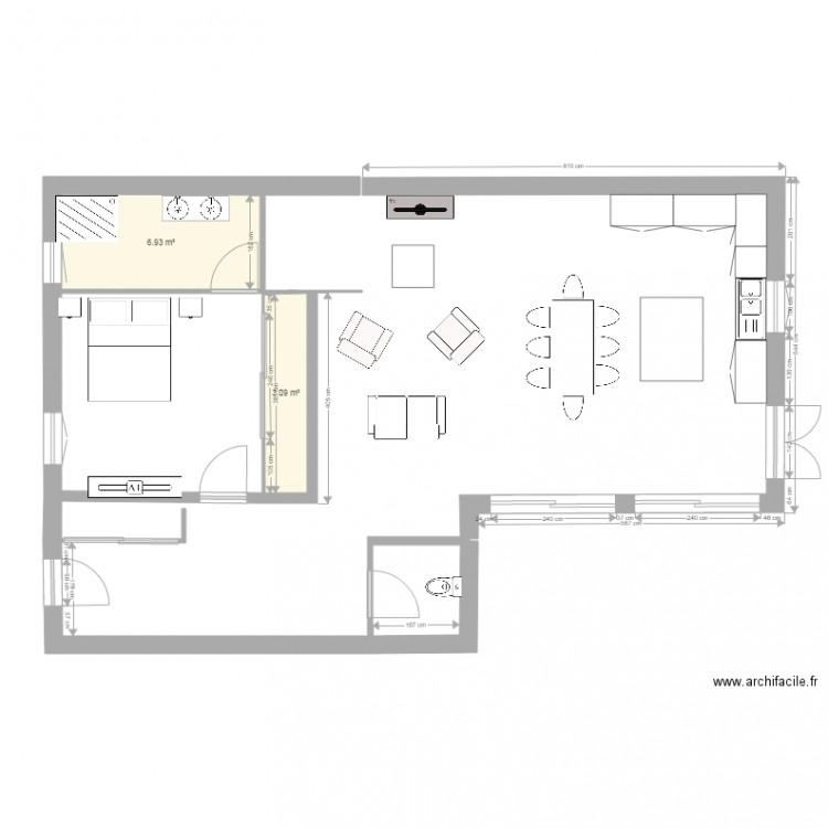 Maison plan 2 pi ces 10 m2 dessin par unook - Plan de maison 2 pieces ...