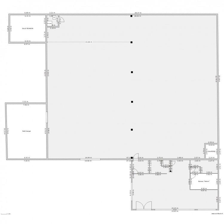 Hangar cap plan 9 pi ces 1000 m2 dessin par for Plan de hangar