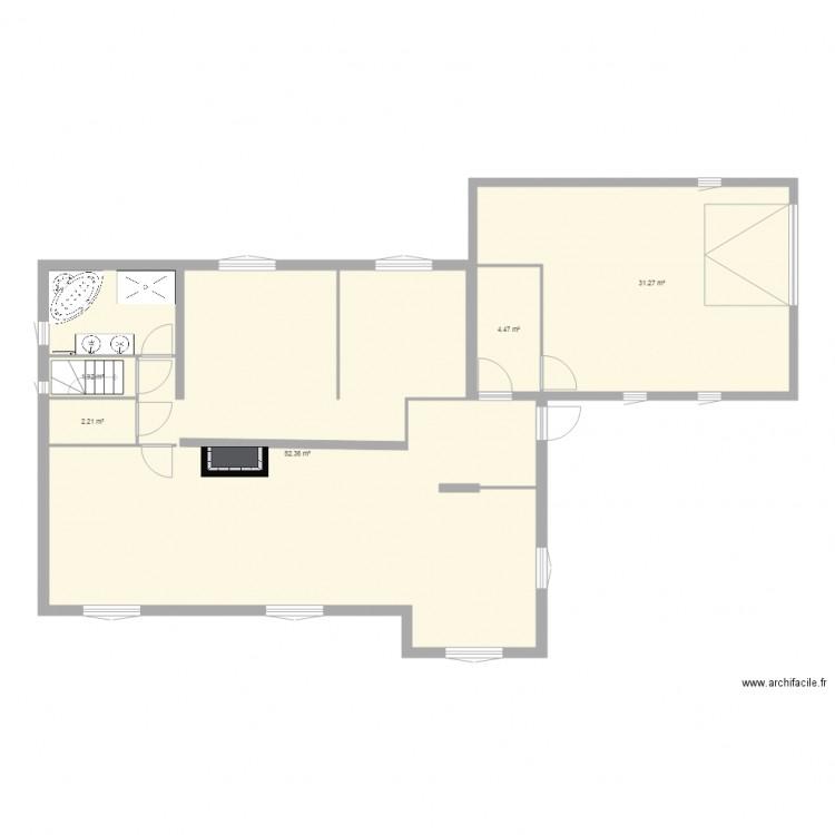 Maison st jean sdb1 plan 5 pi ces 122 m2 dessin par beerfab for Taille moyenne maison