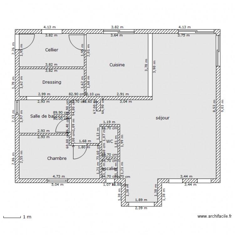 plan de maison gratuit avec dimensions